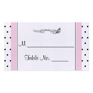 Cartões finos do lugar do casamento da borboleta cartão de visita
