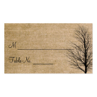 Cartões finos do lugar do casamento de cartão de visita