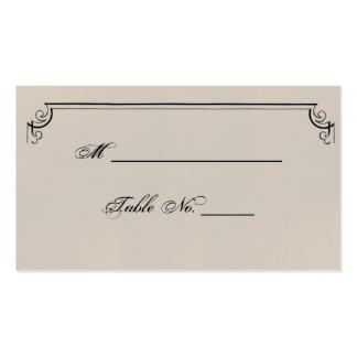 Cartões finos do lugar do casamento de Nouveau da Cartão De Visita