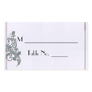 Cartões finos do lugar do casamento do art deco da cartão de visita