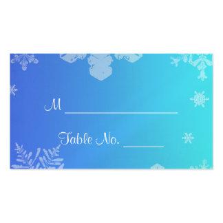 Cartões finos do lugar do casamento do floco de cartão de visita