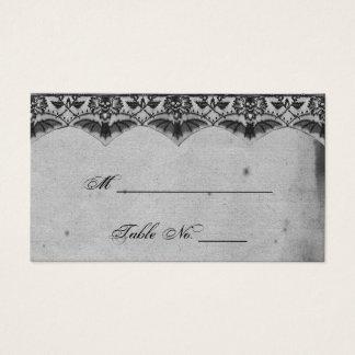 Cartões finos do lugar do casamento do laço gótico