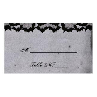 Cartões finos do lugar do casamento do laço gótico cartão de visita