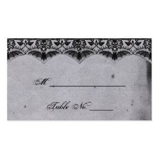 Cartões finos do lugar do casamento do laço gótico modelo cartões de visita