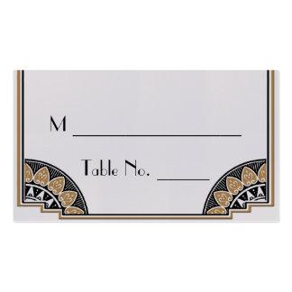 Cartões finos do lugar do casamento do ouro do art cartoes de visita