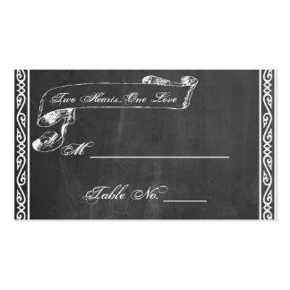 Cartões finos do lugar do casamento do quadro cartão de visita