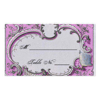 Cartões finos do lugar do casamento do quadro de cartão de visita