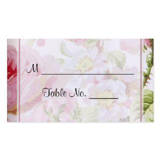 Cartões finos do lugar do casamento do rosa do cartão de visita