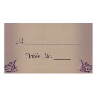Cartões finos do lugar do casamento do vintage cartão de visita