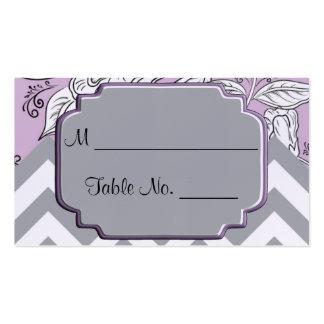 Cartões finos florais do lugar do casamento de cartão de visita