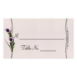 Cartões finos ocidentais do lugar do casamento do cartão de visita