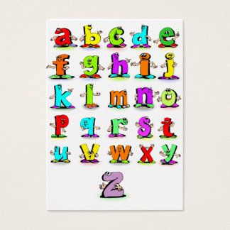 Cartões flash do alfabeto