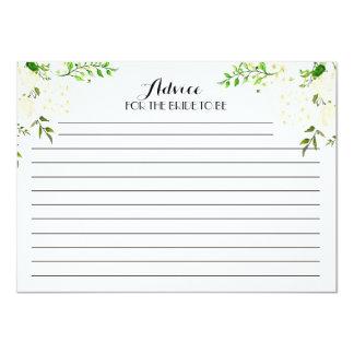 Cartões florais bonitos brancos do conselho convite 11.30 x 15.87cm