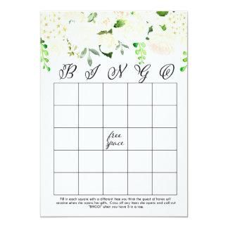 cartões florais brancos do Bingo do chá de panela Convite 12.7 X 17.78cm