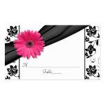 Cartões florais brancos do lugar do casamento do cartão de visita