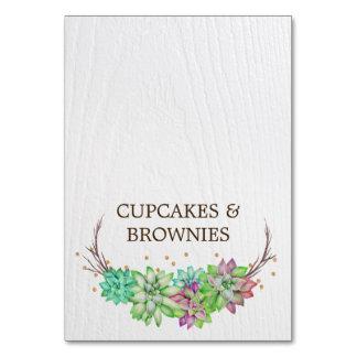Cartões florais da barraca da comida do Succulent