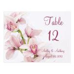 Cartões florais da mesa do casamento da orquídea c cartao postal