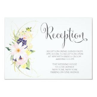 Cartões florais da recepção de casamento do convites personalizados