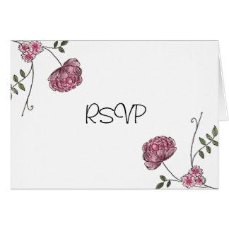 Cartões florais de RSVP