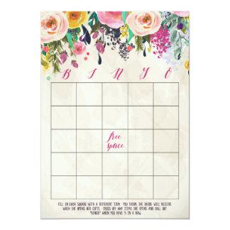 Cartões florais do Bingo do chá de panela Convite 12.7 X 17.78cm