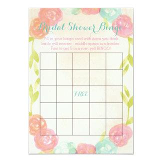 Cartões florais do Bingo do chá de panela do Convite 12.7 X 17.78cm