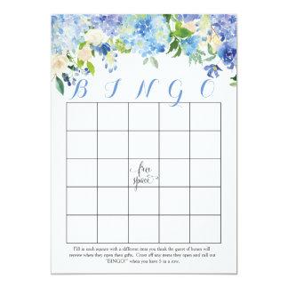 cartões florais do Bingo do chá de panela dos Convite 12.7 X 17.78cm