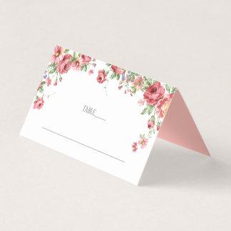Cartões florais do lugar do casamento da aguarela