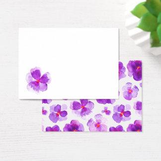 Cartões florais do lugar do convidado da aguarela