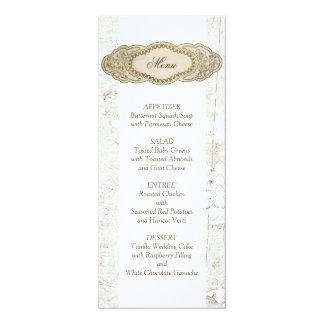 Cartões florais do menu da recepção de casamento convite 10.16 x 23.49cm