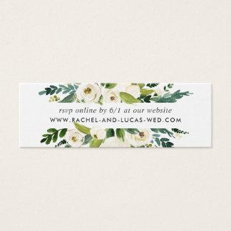 Cartão De Visitas Mini Cartões florais do Web site RSVP do casamento do
