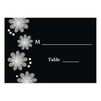 Cartões florais na moda do lugar modelo cartao de visita