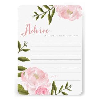 Cartões florais românticos do conselho do convite personalizado
