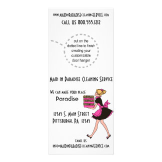 Cartões Funky da cremalheira do serviço da limpeza 10.16 X 22.86cm Panfleto