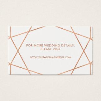 Cartões geométricos do Web site do casamento do