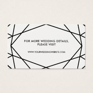 Cartões geométricos preto e branco do Web site do