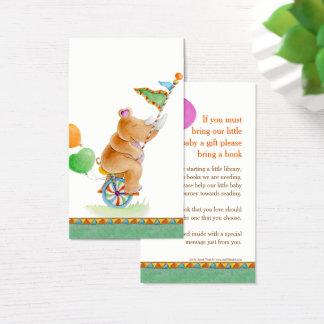 Cartões gifting do livro da arte do rinoceronte do