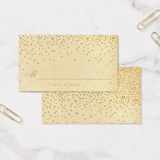 Cartões Glam da escolta do casamento dos confetes