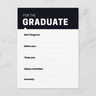 Cartões graduados do conselho da lembrança |