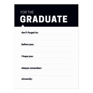 Cartões graduados do conselho da lembrança | cartão postal