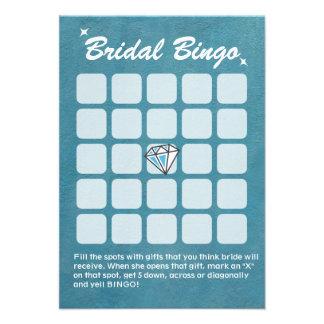 Cartões grandes do Bingo do chá de panela da cerce Convites