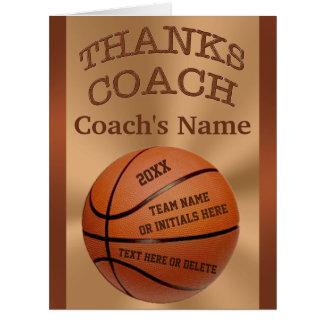 Cartões GRANDES do treinador de beisebol com TODOS