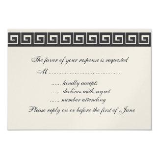 Cartões gregos da chave RSVP Convite Personalizados