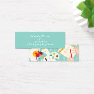 """Cartões Handmade mini, 3,0"""" x 1,0"""", resíduo"""