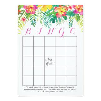 Cartões havaianos tropicais do Bingo do chá Convite 12.7 X 17.78cm
