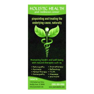 Cartões holísticos da cremalheira da saúde da 10.16 x 22.86cm panfleto