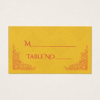 Cartões indianos do lugar do casamento do pavão