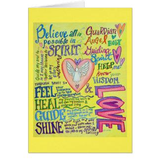 Cartões inspirados do anjo da oração do espírito