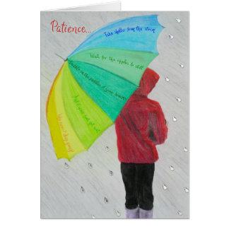 Cartões inspirados e inspiradores: Paciência…