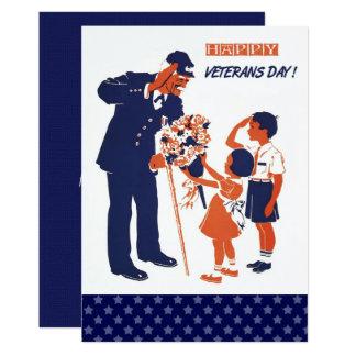 Cartões lisos do dia de veteranos do design do