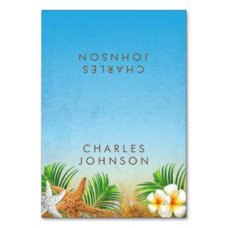 Cartões litorais do lugar da praia |